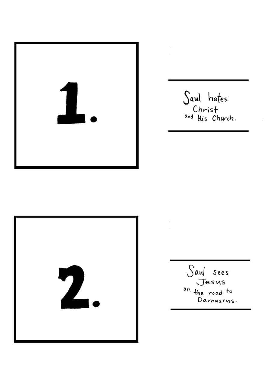 Free Coloring Pages Of Sauls Conversion