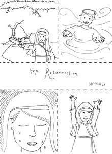 Resurrection Story Coloring Page