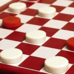 checkers board red and white