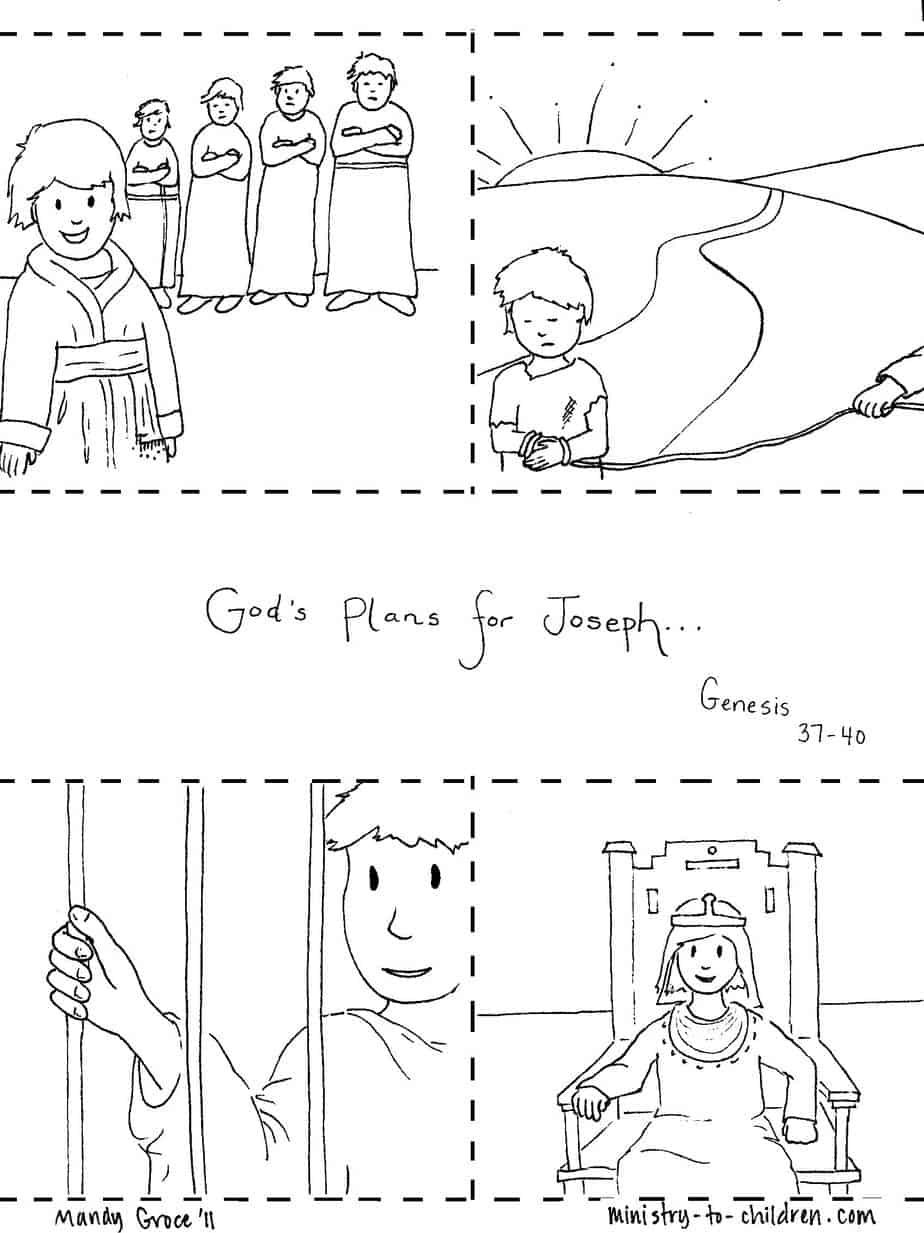 bible coloring pages of joesph - photo#26