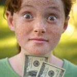 Girl with cash money