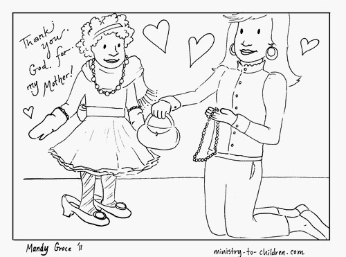 African American Mother's Day coloring page