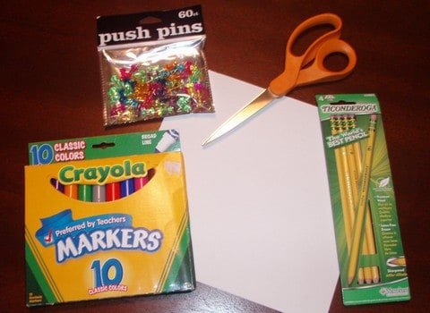 pinwheel craft project supplies