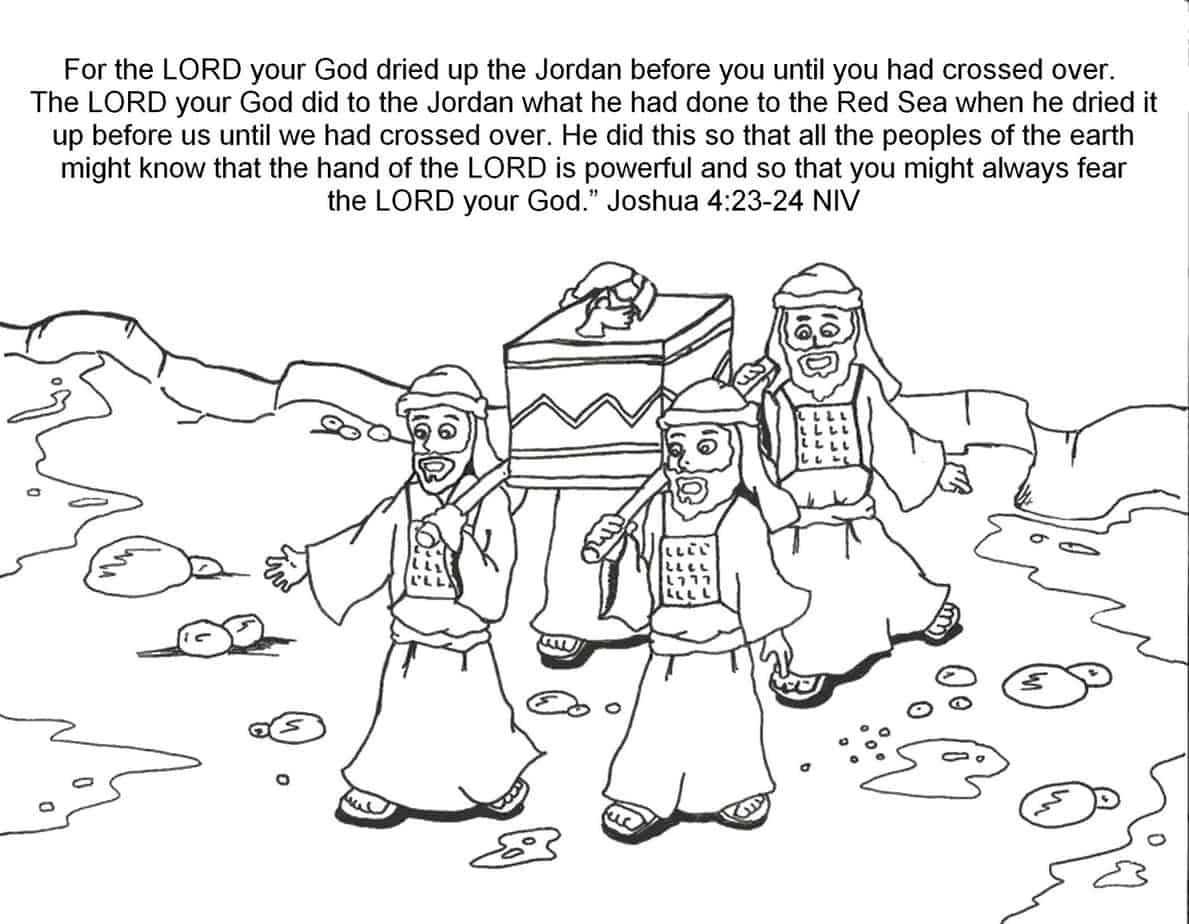 Crossing The Jordan River Coloring Page