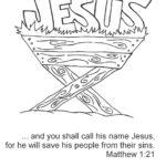 Jesus manger coloring page