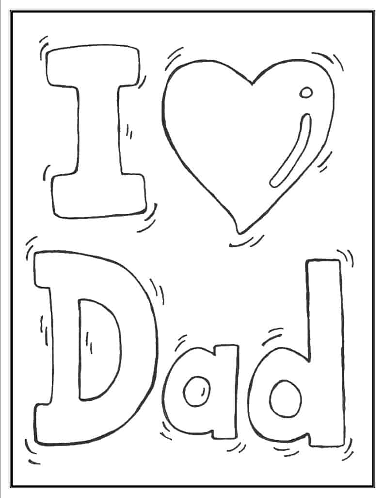 i love my daughter coloring pages | Father's Day Coloring Pages (100% Free) Easy Print PDF