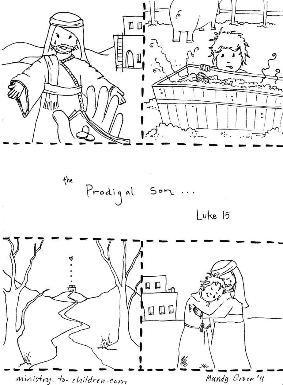 prodigal son coloring pages - photo#8