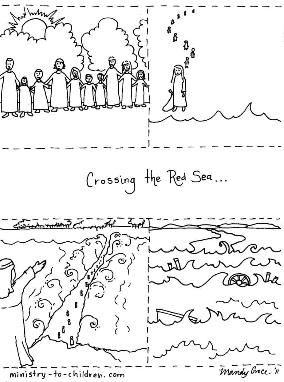moses red sea coloring pages - photo#30