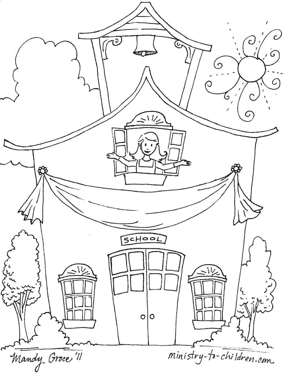First Day of School Coloring Pages