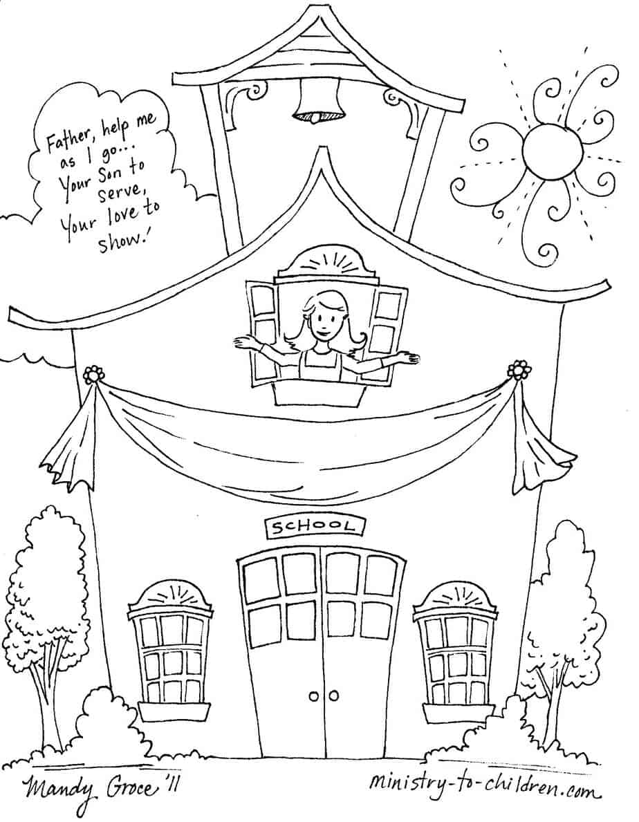 First day of school coloring pages for Back to school coloring pages free printables