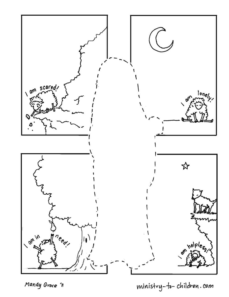 Jesus is the Good Shepherd Coloring Page Easy Print ...