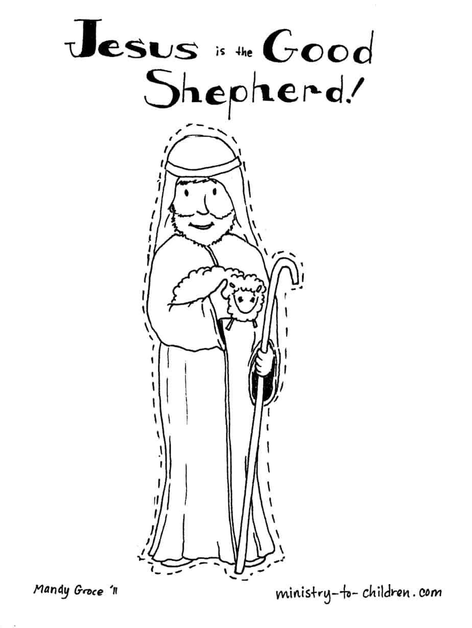 Jesus Is The Good Shepherd Coloring Page Easy Print