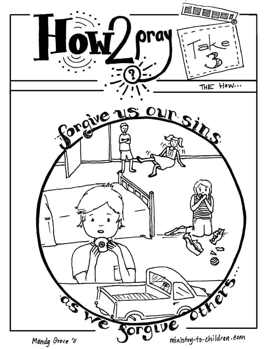 Forgiving Others Colouring Pages page 2