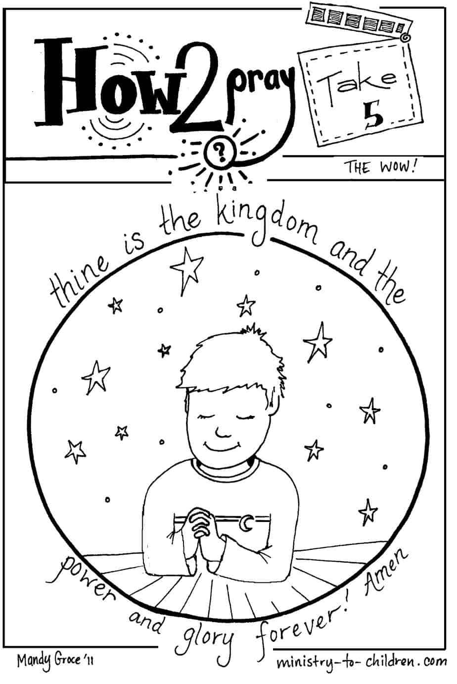 quot Thine is the Kingdom quot Coloring