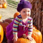 Little girl at fall festival.