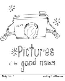 Pictures of the Good News Coloring Page