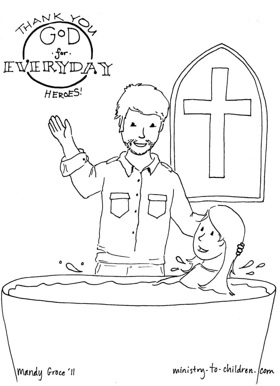pastor appreciation kids printable coloring pages