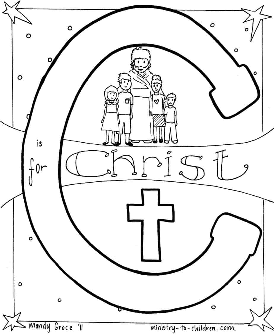 Catholic Alphabet Coloring Pages : Free coloring pages of finger prayer for kids