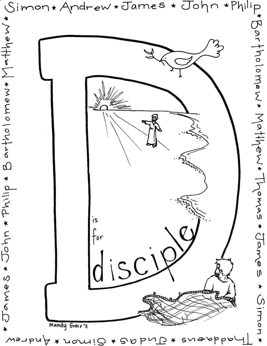 desciples of jesus coloring pages - photo#13