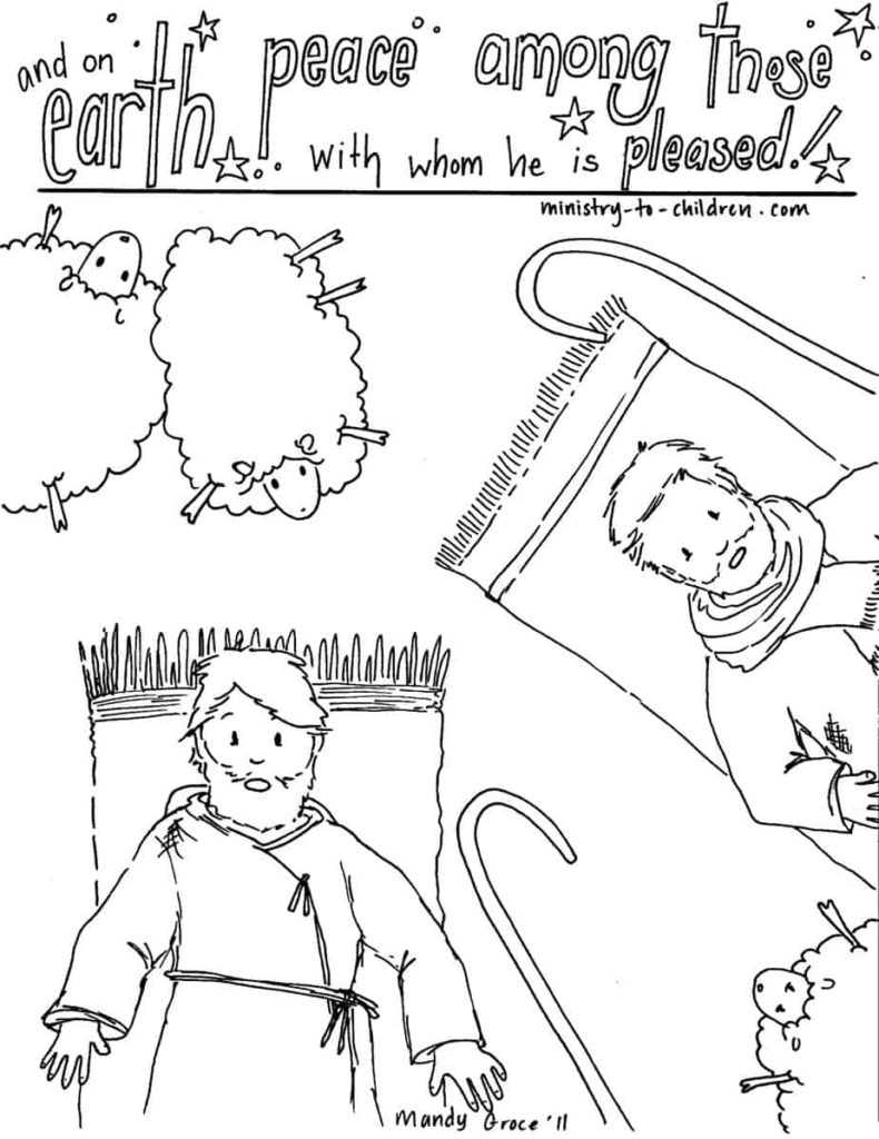 Bethlehem Shepherds Coloring Pages