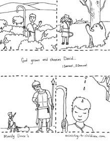 Coloring Page David's Story