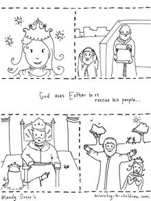 Printable Queen Ester Story Cards