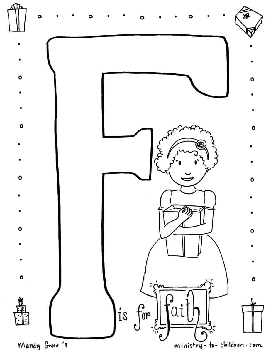 christian child coloring pages free - photo#17