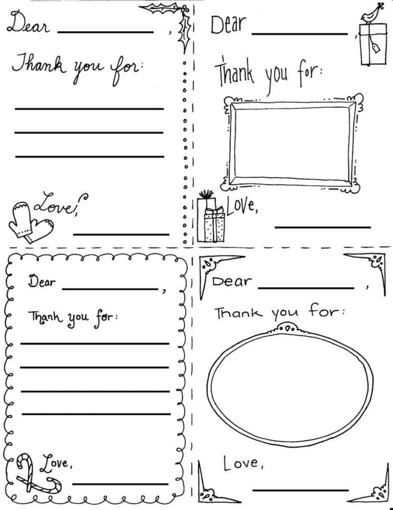 Christmas Thank You Cards Printable