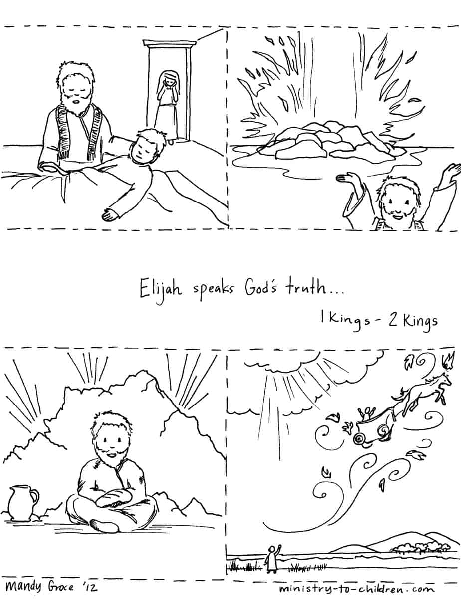 Free Elijah Widow Coloring Pages