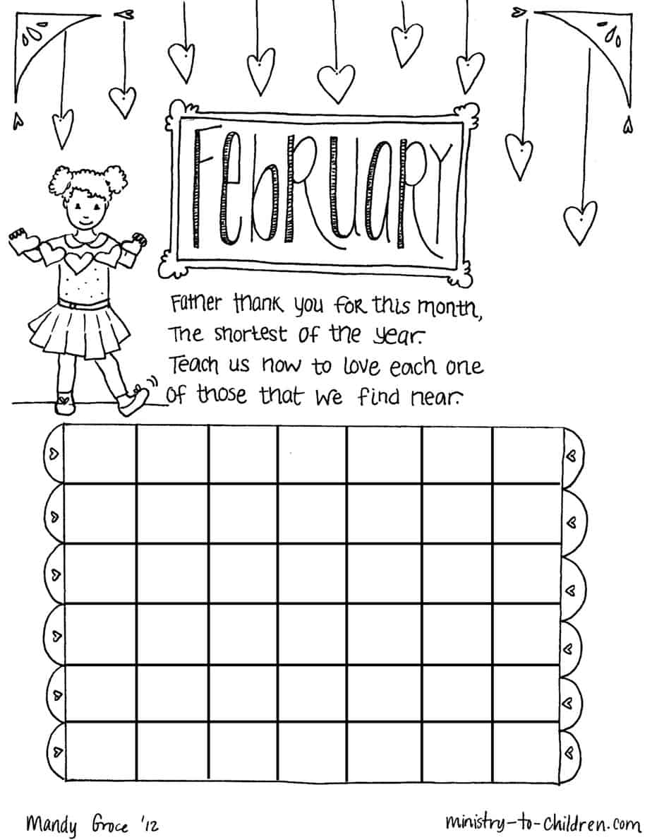 coloring pages february - photo#33