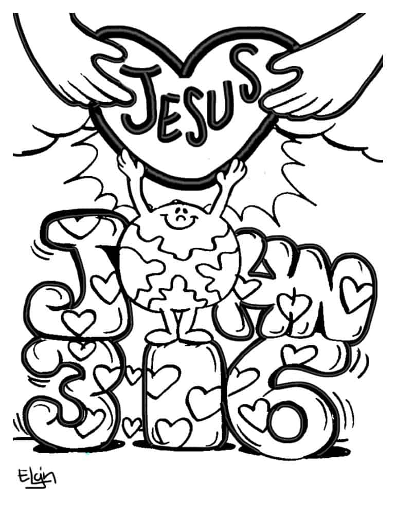 jesus valentine coloring pages - photo#20