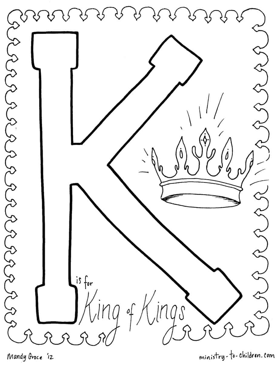 quot K is for King of Kings quot Coloring