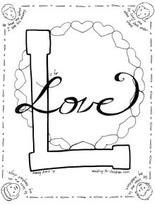 Love Coloring Page