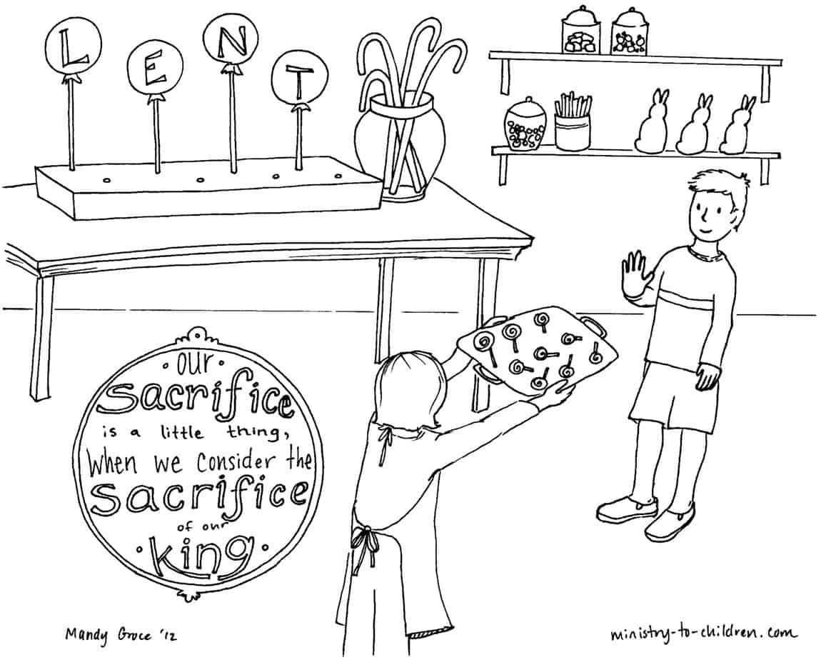 Lent Coloring Pages for Children - Ministry-To-Children