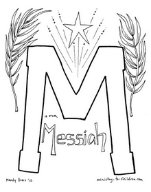 Free M is for Messiah Coloring Sheet