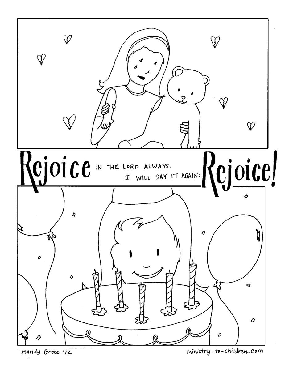 rejoice coloring pages - photo#8