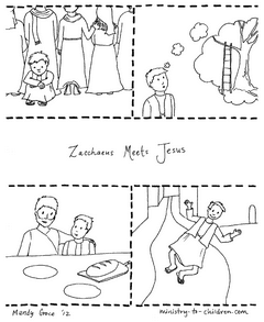 image relating to Zacchaeus Printable called Zacchaeus Jesus Coloring Webpage (Absolutely free Printable)