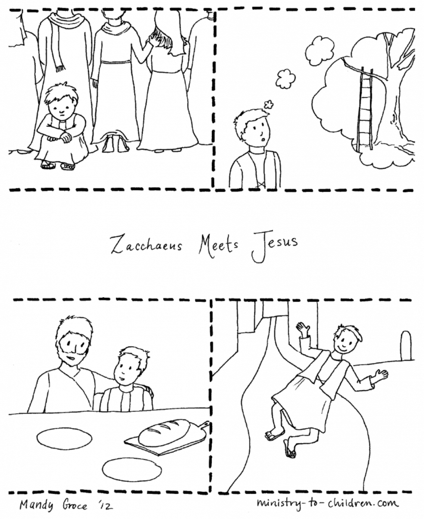 Zacchaeus-coloring-page