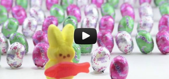 Video story of Easter told using candy