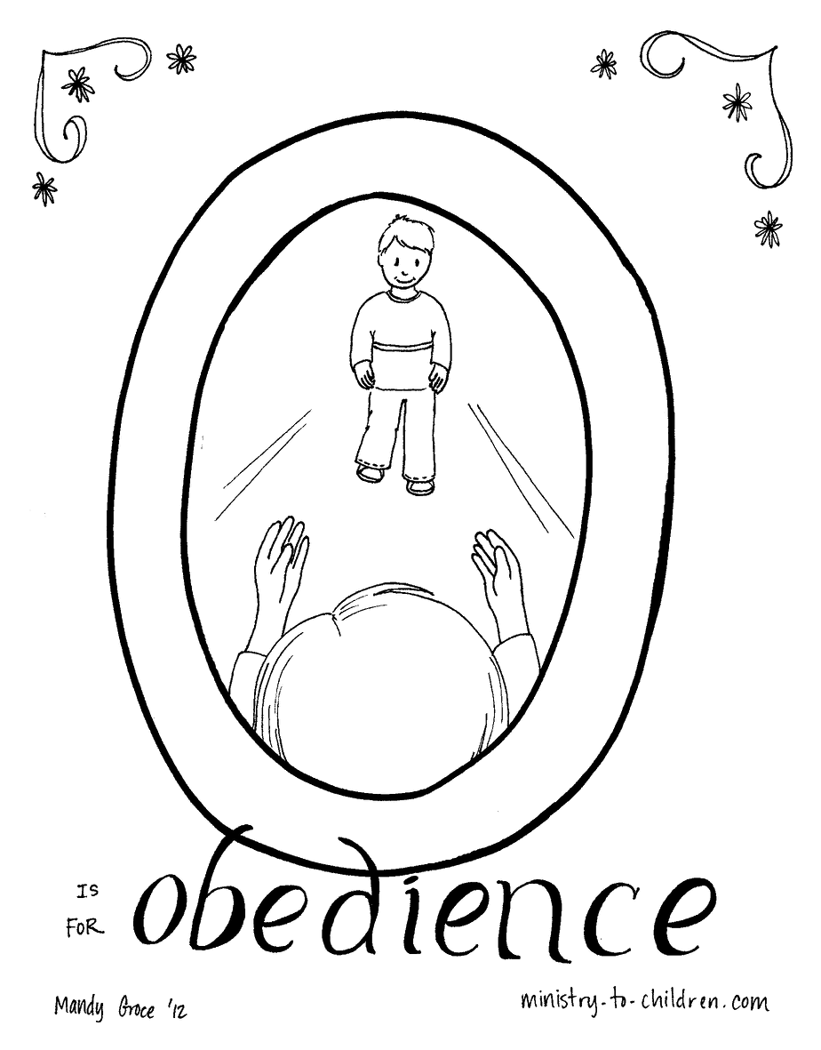 Obey Your Parents Colouring Pages