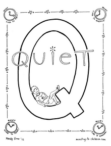 Quiet time coloring page