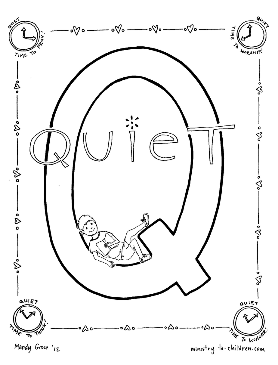 q coloring pages for kids - photo #16