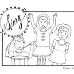 Children Clap Colouring Pages Page 2
