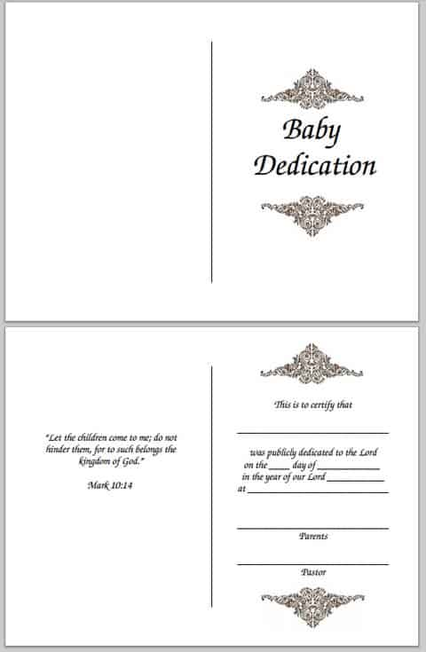 graphic relating to Printable Baby Dedication Certificate referred to as Child Commitment Certification (Absolutely free Printable)