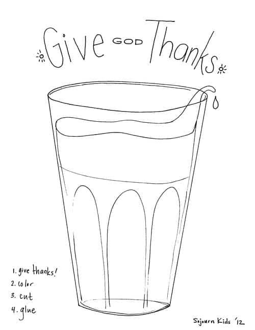 glass overflowing craft about giving thanks