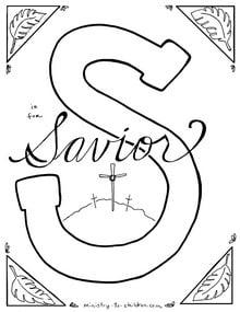 Printable Savior Coloring sheet