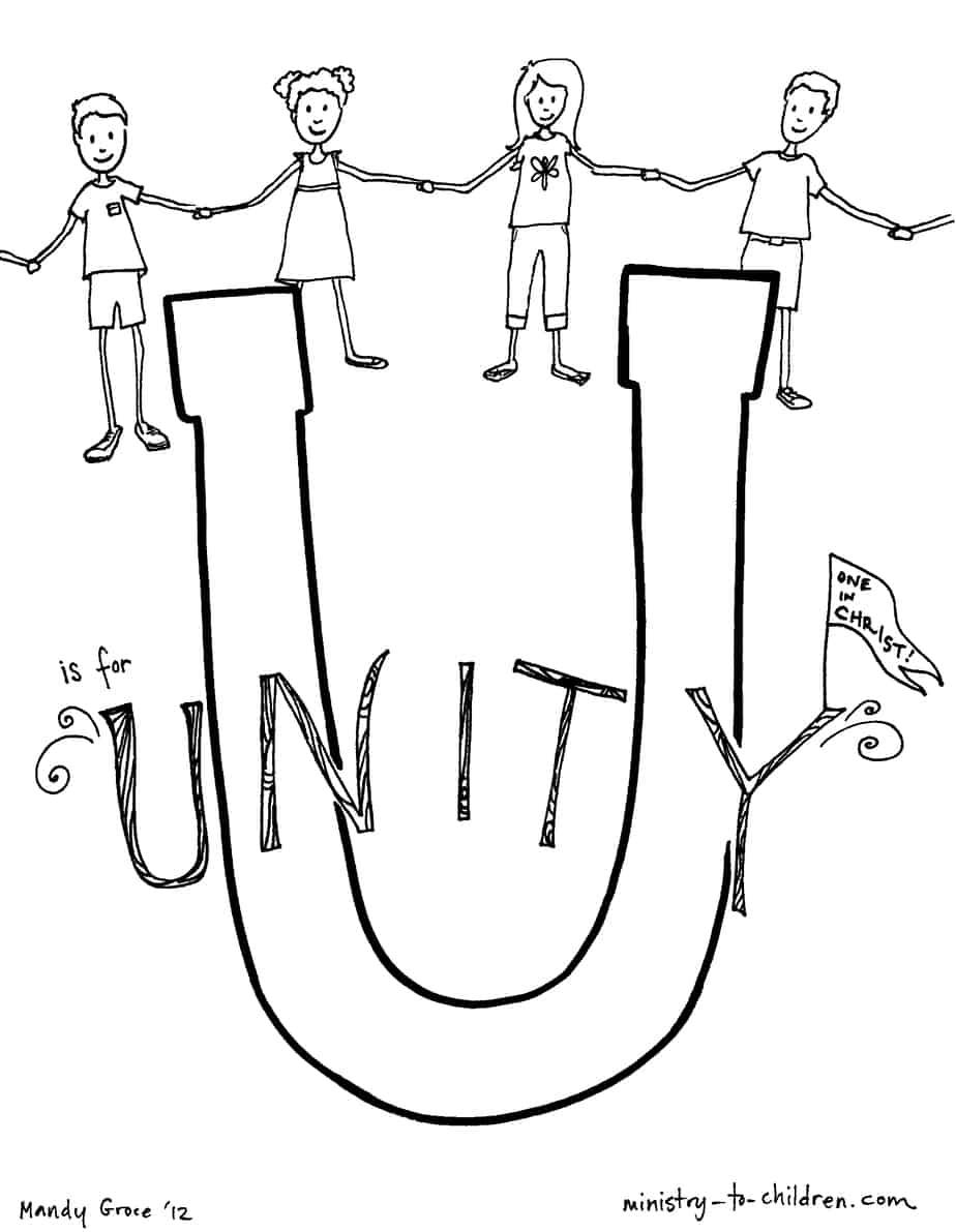 quot U is for Unity quot Bible Alphabet