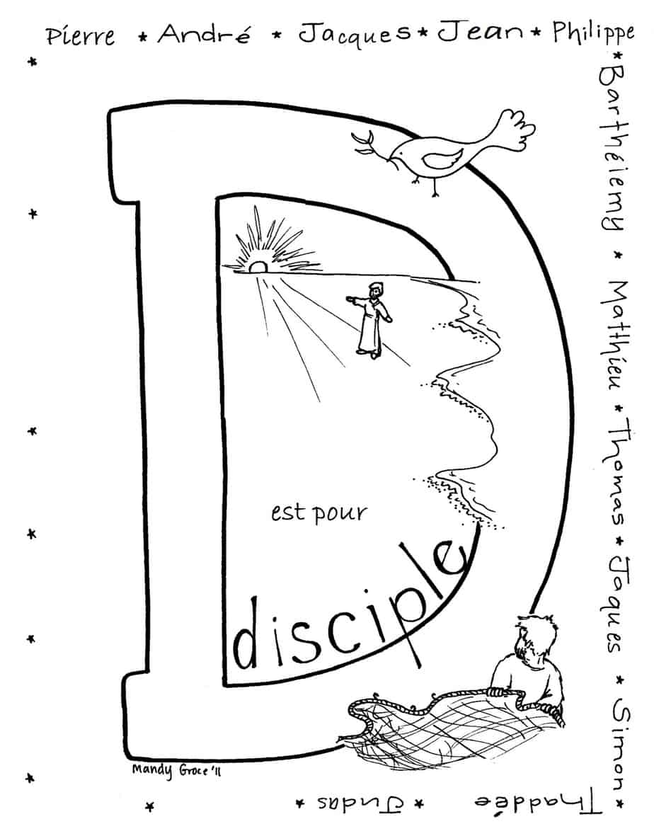 christian missionary coloring pages | Coloriages de la Bible a Imprimer (Coloring Pages in French)