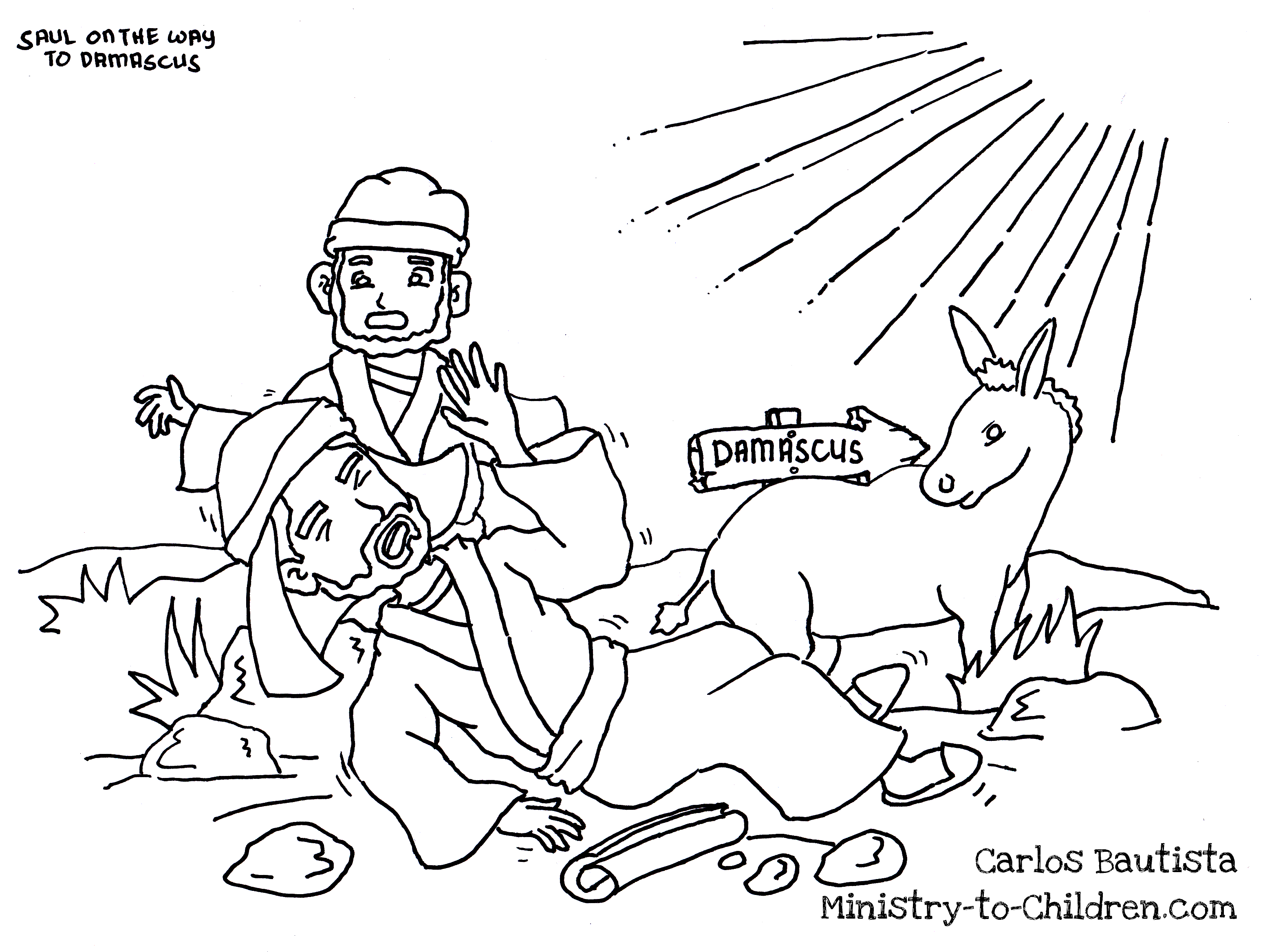 ananias heals saul coloring pages coloring pages