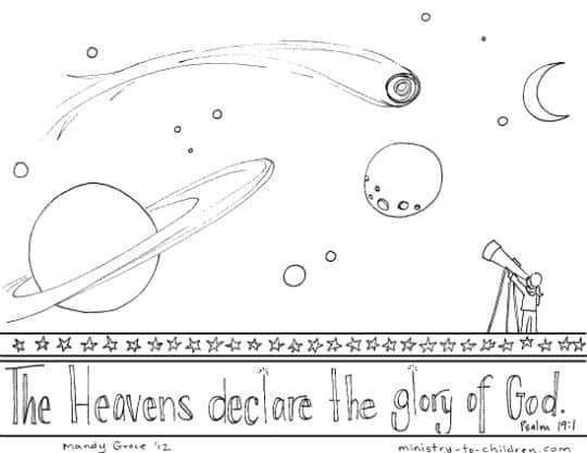 Psalm 19 Coloring Page quot Heavens